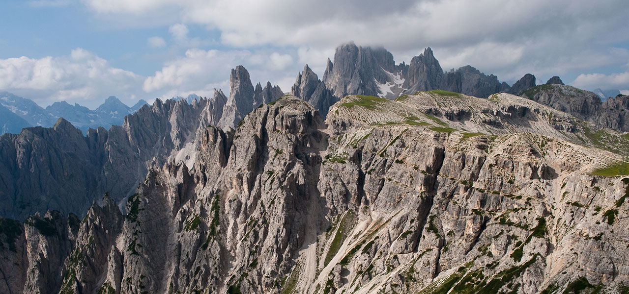 Dolomite panorama in summer