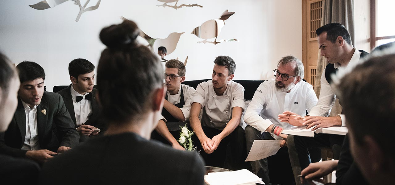 Chef Norbert Niederkofler and his kitchen team